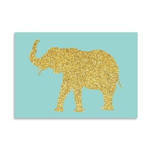 Poster Americanflat Glitter Elephant, 30 x 42 cm