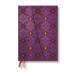 Diář pro rok 2015 French Ornate Violet 13x8 cm, verso výpis dnů