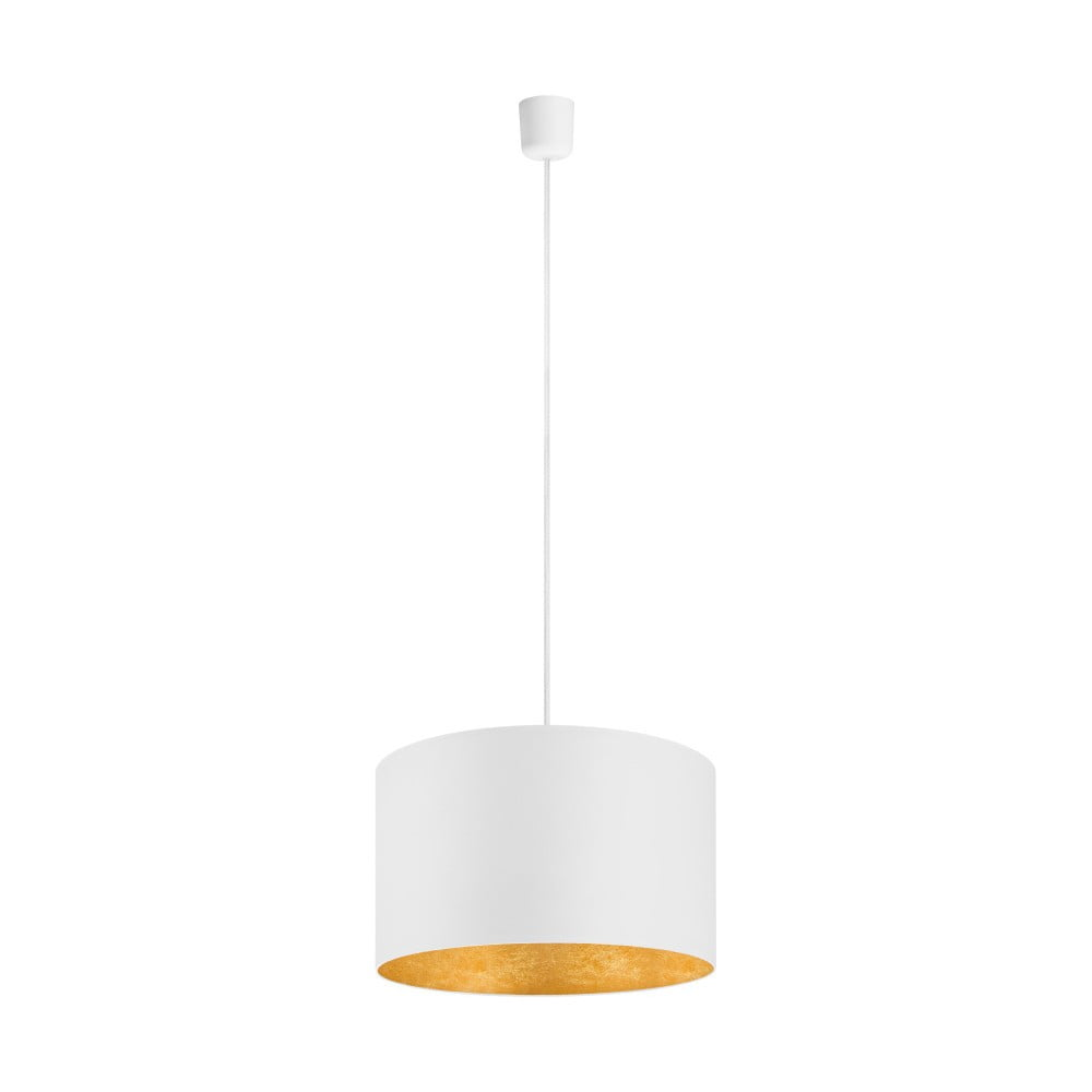 Bílé stropní svítidlo s detailem ve zlaté barvě Sotto Luce Mika, Ø40 cm