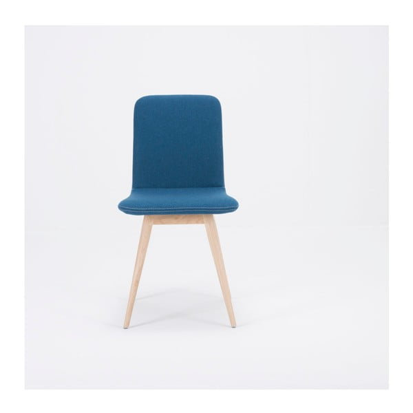 Ena kék szék, tölgyfából - Gazzda