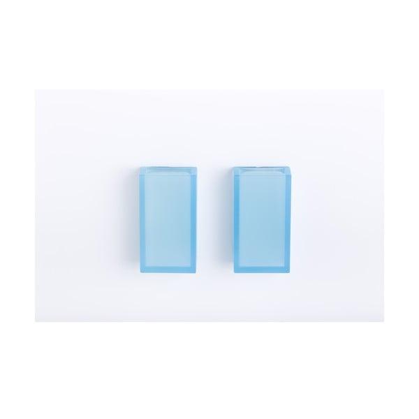 Samodržící nástěnný kelímek na zubní kartáčky Listo Light Blue, 2 ks