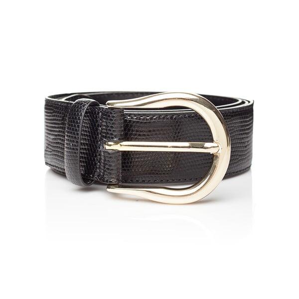 Černý kožený dámský pásek Ferruccio Laconi Tyche, délka 95 cm