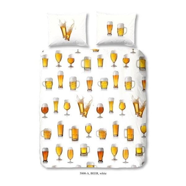 Lenjerie de pat din bumbac Good Morning Beer, 200 x 240 cm