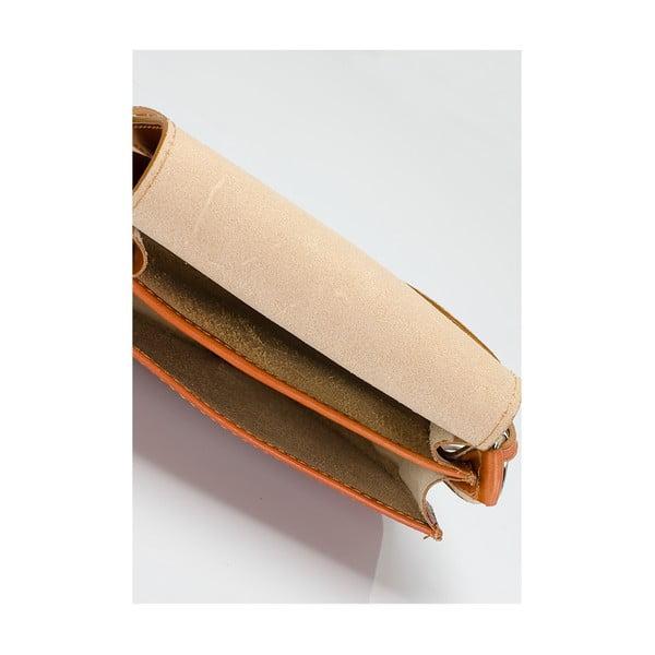 Koňakově hnědá kožená kabelka Giulia Massari Gitte