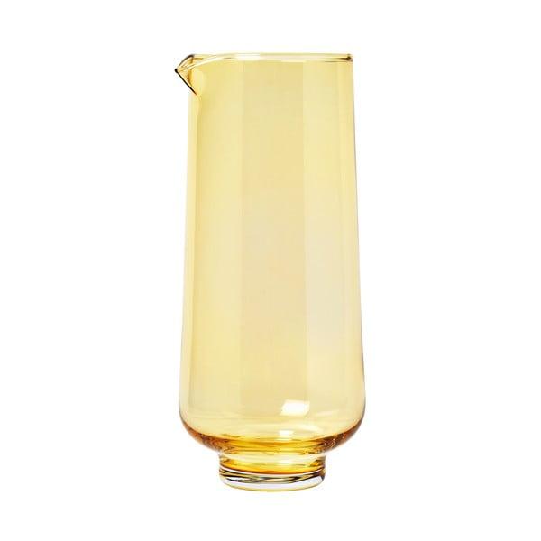 Carafă din sticlă pentru apă Blomus Flow, 1,1 l, galben transparent