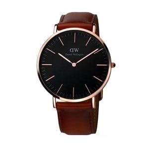 Unisex hodinky s hnědým páskem Daniel Wellington St Mawes Rose, ⌀40mm