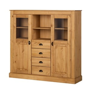 Dulap pentru tacâmuri din lemn de pin, cu 4 sertare, Støraa Tommy, culoare naturală