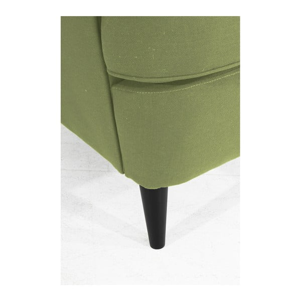 Zelené křeslo ušák Max Winzer Clint