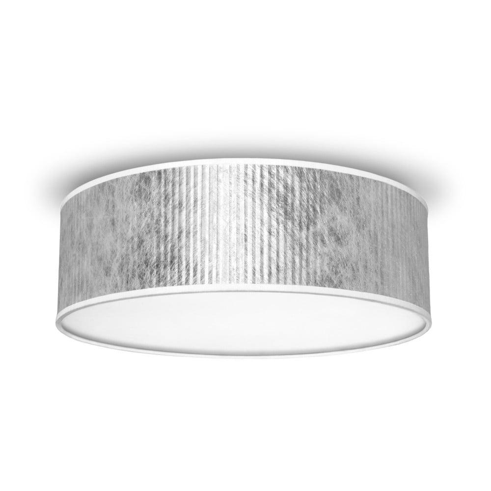 Stropní světlo ve stříbrné barvě Bulb Attack Tres, průměr 30 cm