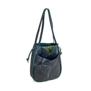 Tmavě zelená kožená kabelka Woox Bella Regula