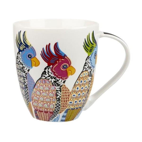 Sada 2 hrnků z kostního porcelánu Churchill China Parakeets, 500 ml