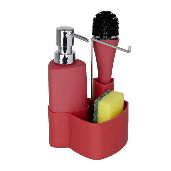 Červený set na mytí nádobí Wenko Empire, 250 ml
