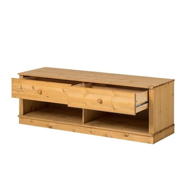 Hnědá TV komoda z borovicového dřeva Støraa Annabelle