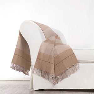 Hnědá deka z merino vlny Lanerossi Murano, 130x180cm