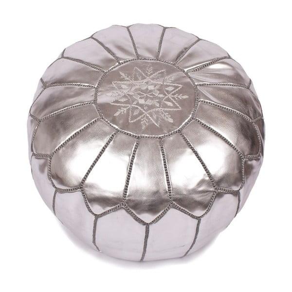 Taburet bez výplně, stříbrný