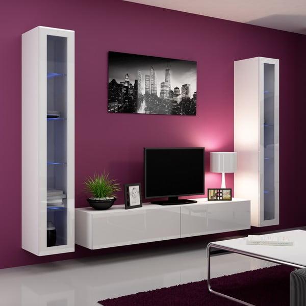 Obývací stěna Igo, bílá