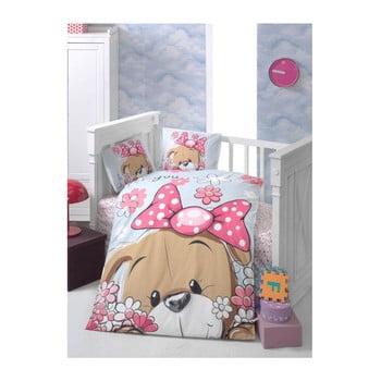 Lenjerie de pat cu cearșaf pentru copii Sevimli, 100 x 150 cm imagine