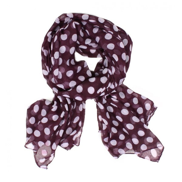 Šátek Midi Polka Dot, Grape