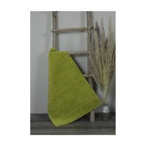 Zelená bavlněná koupelnová předložka My Home Plus Sensation, 60 x 90 cm