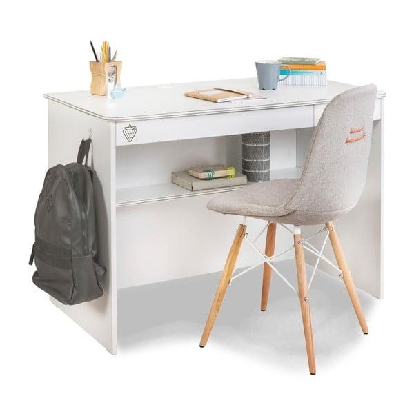 White Study Desk fehér íróasztal
