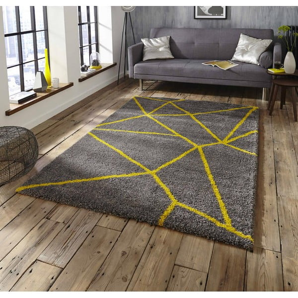 Covor Think Rugs Royal Nomadic Grey & Yellow, 120 x 170 cm, gri - galben