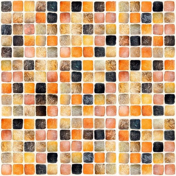 Sada 9 nástěnných samolepek Ambiance Wall Decal Tiles Mosaics Sanded Grade, 10 x 10 cm