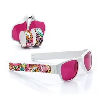 Ochelari de soare pliabili InnovaGoods Sunfold TR4, roz - alb de la InnovaGoods
