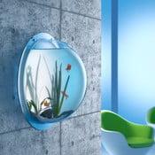 Nástěnné akvárium, 50 cm, sada s kyslíkovou pumpou a náplní