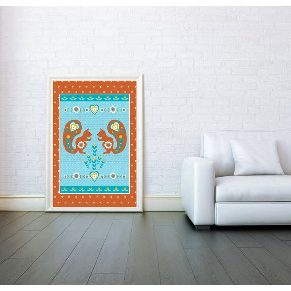 Plakát Veverky oranžová, velký