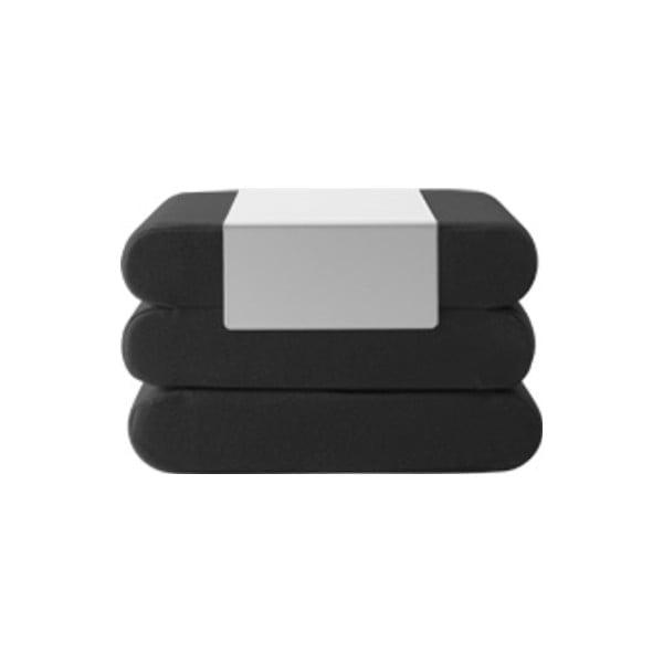 Bingo Vision Black Grey fekete kinyitható puff - Softline