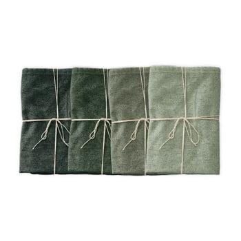 Set 4 șervețele textile Linen Couture Green Gradient, lățime 40 cm imagine