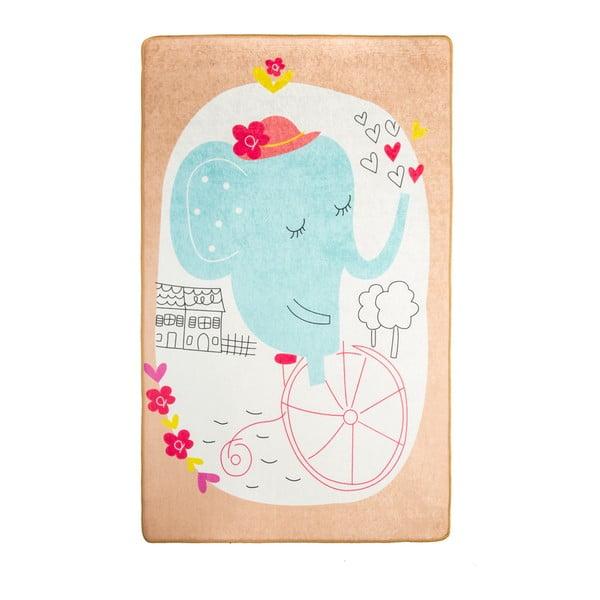 Dywan dla dzieci Elephants Bike, 140x190 cm