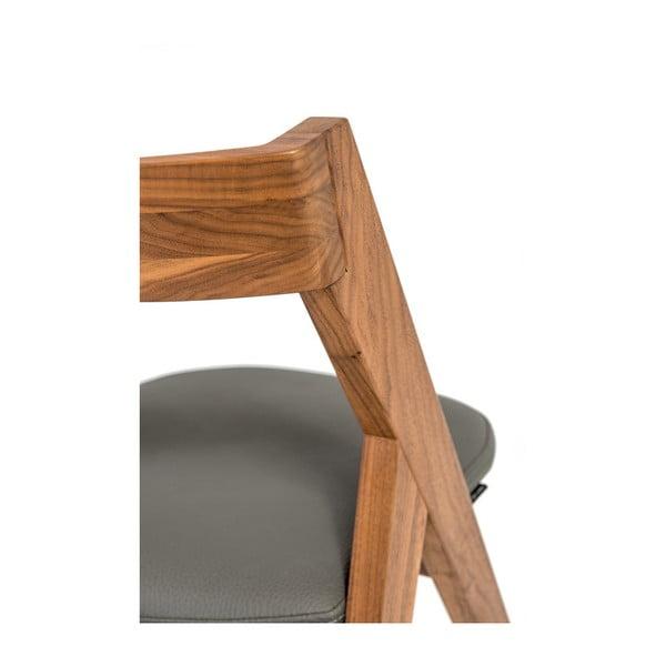 Židle z masivního ořechového dřeva Charlie Pommier Garibaldi