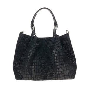 Černá kožená kabelka Giulia Bags Ollie