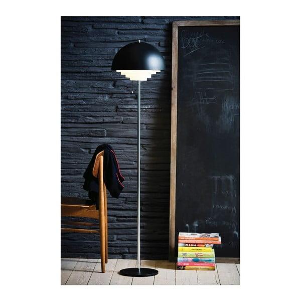 Černá stojací lampa Herstal Motown