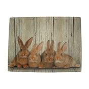 Suport pentru farfurie Damily Brown Rabbits 40x30 cm