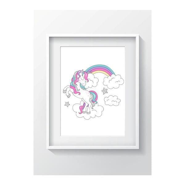 Nástenný obraz OYO Kids Unicorn Adventures, 24 x 29 cm