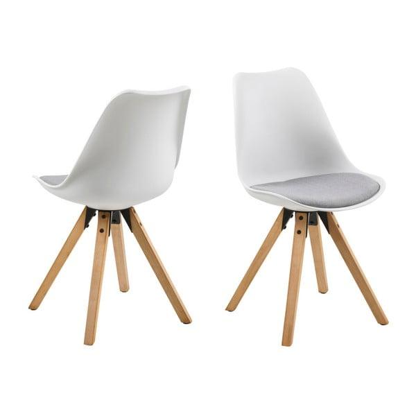 Sada 2 sivo-bielych jedálenských stoličiek Actona Damia