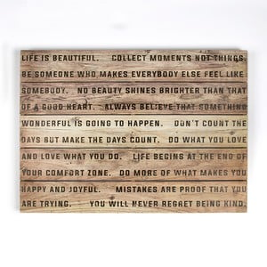 Tablou din lemn Graham & Brown Life, 70 x 50 cm