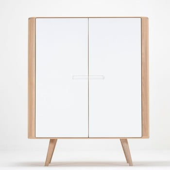 Dulap din lemn de stejar Gazzda Ena, 90 x 110 cm