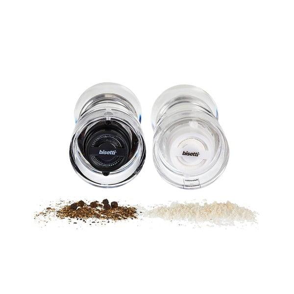 Sada 2 mlýnků na sůl a pepř Bisetti, 12,5 cm