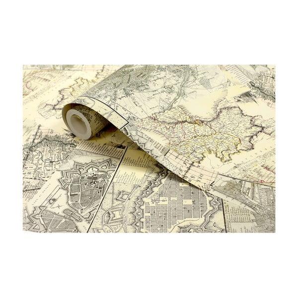 Role tapety Stará mapa, 53x1005 cm