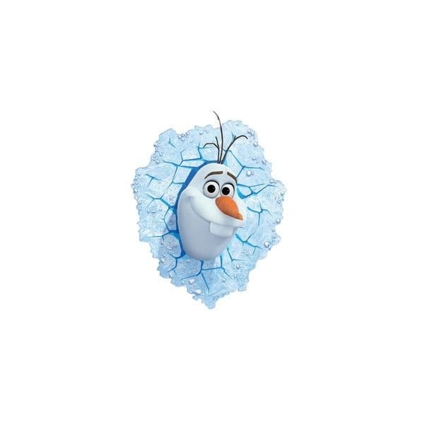 Dětské 3D světlo na zeď Sněhulák Olaf