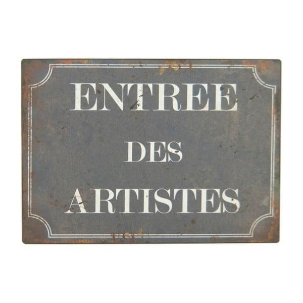 Plechová cedule Antic Line Entree Des Artistes