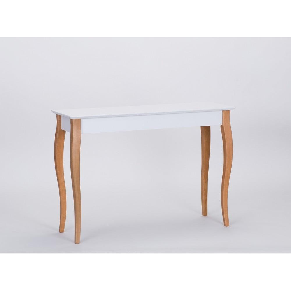 Bílý odkládací stolek Ragaba Console, délka 105 cm