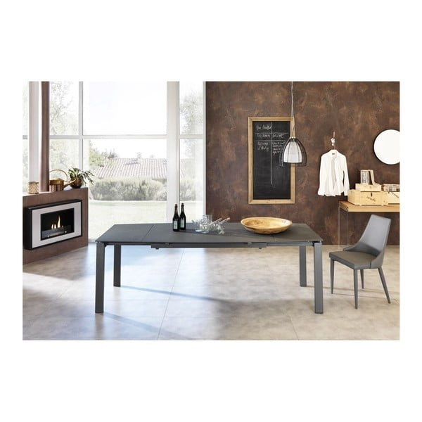 Tmavě šedý rozkládací jídelní stůl Design Twist Montijo