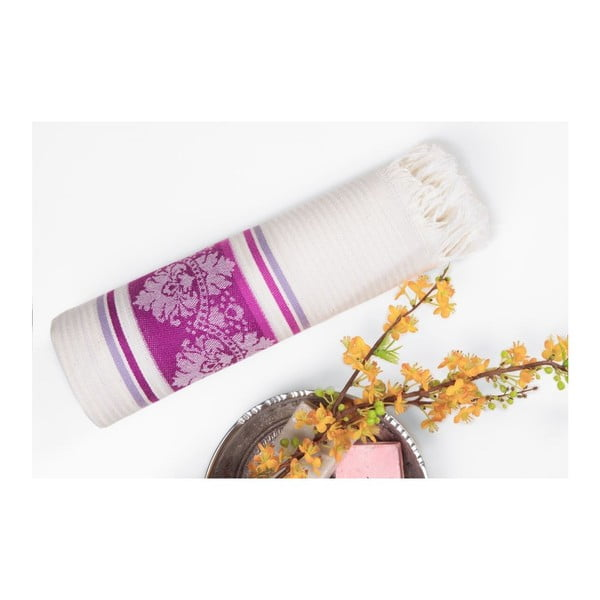 Prosop hammam Deco Bianca Loincloth Purple, 80 x 170 cm, violet - bej