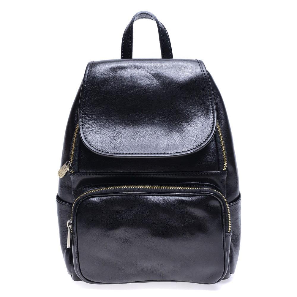 Černý kožený batoh Roberta M Francesca