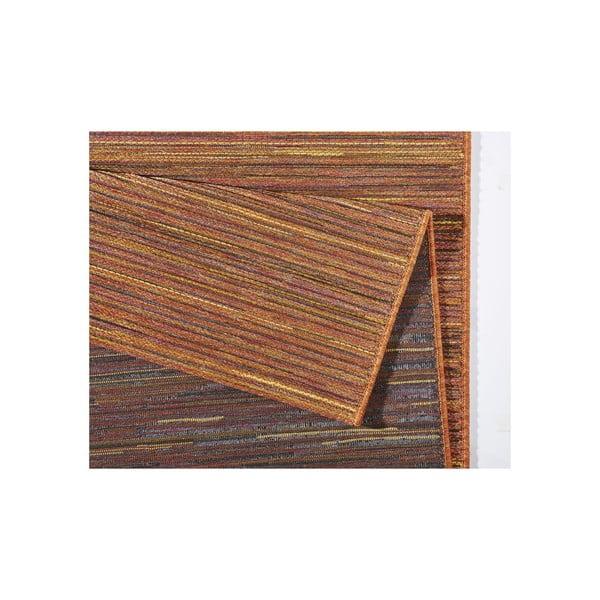 Koberec vhodný i na ven Lotus 160x230 cm, oranžový melír