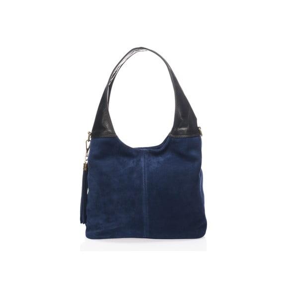 Modrá kožená kabelka Lisa Minardi Eleanora